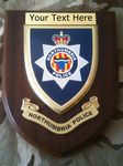 Northumbria Police Force Personalised Wall Plaque